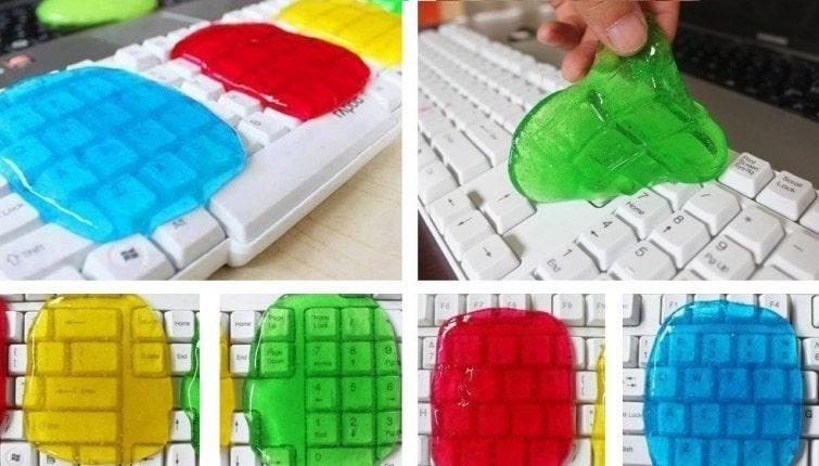 gel limpiar teclado mecánico